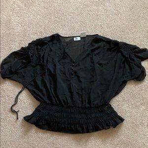 Dressy Black Sheer Top